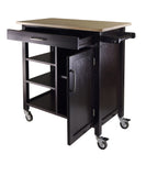 Winsome Wood Natural & Espresso Mali Two-Tone Kitchen Cart - Your Kitchen Island - 2