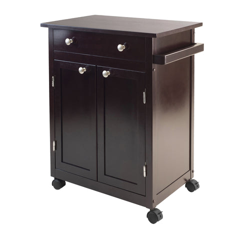 Winsome Wood Espresso Savannah Kitchen Cart - Your Kitchen Island - 1