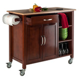 Winsome Wood Walnut & Natural Mabel Kitchen Cart - Your Kitchen Island - 2