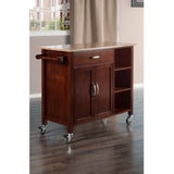 Winsome Wood Walnut & Natural Mabel Kitchen Cart - Your Kitchen Island - 4