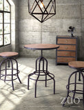 ZUO Twin Peaks Counter Stool Distressed Natural - 98184 - Your Kitchen Island - 3