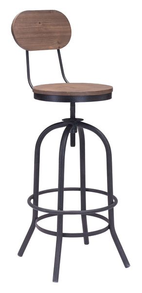 ZUO Twin Peaks Bar Chair Distressed Natural - 98181 - Your Kitchen Island - 1