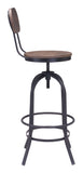 ZUO Twin Peaks Bar Chair Distressed Natural - 98181 - Your Kitchen Island - 2