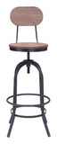 ZUO Twin Peaks Bar Chair Distressed Natural - 98181 - Your Kitchen Island - 5