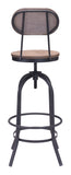 ZUO Twin Peaks Bar Chair Distressed Natural - 98181 - Your Kitchen Island - 3