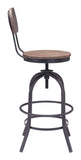 ZUO Twin Peaks Counter Chair Distressed Natural - 98182 - Your Kitchen Island - 2