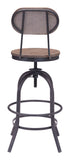 ZUO Twin Peaks Counter Chair Distressed Natural - 98182 - Your Kitchen Island - 3