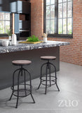 ZUO Twin Peaks Bar Stool Distressed Natural - 98183 - Your Kitchen Island - 4