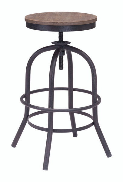 ZUO Twin Peaks Counter Stool Distressed Natural - 98184 - Your Kitchen Island - 1