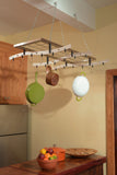 Zojila Amazon Ceiling Pot Rack and shelf - Your Kitchen Island - 3