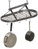 Enclume Décor Classic Oval Pot Rack Hammered and Stainless Steel DR4 - Your Kitchen Island - 1