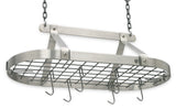 Enclume Décor Classic Oval Pot Rack Hammered and Stainless Steel DR4 - Your Kitchen Island - 2