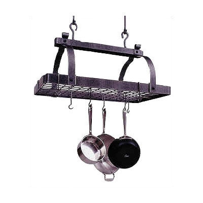 Enclume Classic Rectangle Pot Rack Hammered Steel PR1nbwg - Your Kitchen Island - 1