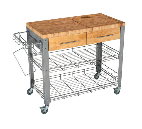 Chris & Chris Stainless Pro Stadium Kitchen Cart/Work Station JET1221 - Your Kitchen Island - 1