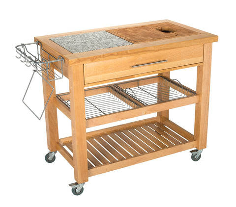 Chris & Chris Natural Pro Chef Series Work Station - Kitchen Cart - Your Kitchen Island - 1