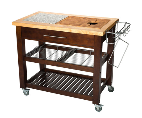 Chris & Chris Espresso Pro Chef Series Kitchen Cart/Work Station - Your Kitchen Island - 1