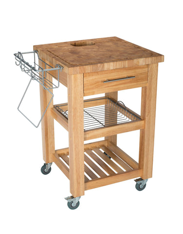 Chris & Chris Natural Pro Chef Series Kitchen Cart/Work Station - Your Kitchen Island