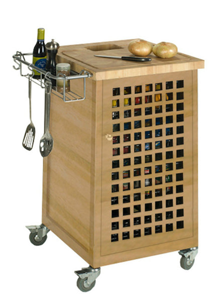 Chris & Chris Natural Pantry Fold Up Prep Station - Kitchen Cart - Your Kitchen Island - 1