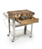 Chris & Chris Natural Stadium Work Station Kitchen Cart JET3191 - Your Kitchen Island - 3