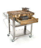 Chris & Chris Natural Stadium Work Station Kitchen Cart JET3191 - Your Kitchen Island - 2