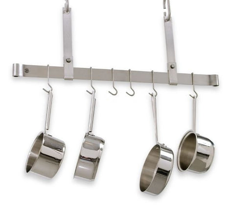 Enclume Adjustable Ceiling Bar Pot Rack Stainless Steel PR11 - Your Kitchen Island