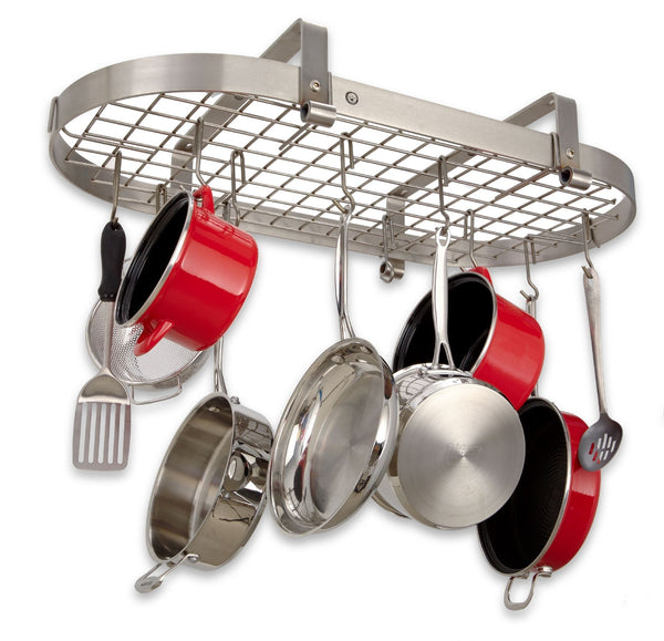 Enclume Low Ceiling Oval Rack with Grid Pot Rack PR12 - Your Kitchen Island - 2