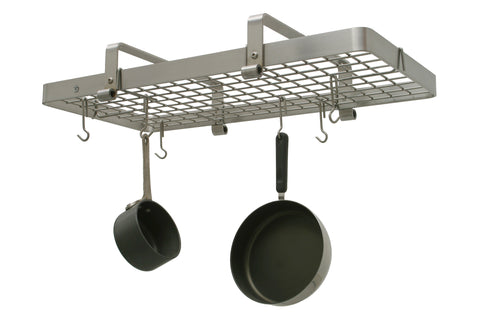 Enclume Low Ceiling Rectangle with Grid Pot Rack Stainless Steel PR13 - Your Kitchen Island