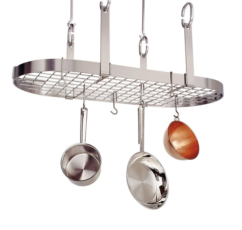 Enclume Four Point Oval Pot Rack with Grid Stainless Steel PR14 - Your Kitchen Island