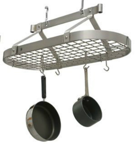 Enclume Oval Pot Rack with Grid Stainless Steel PR16 - Your Kitchen Island