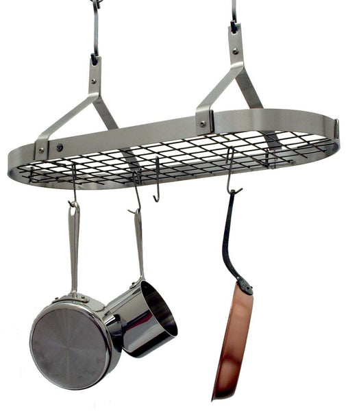 Enclume Stainless Steel Contemporary Rack with Grid Pot Rack PR22 - Your Kitchen Island