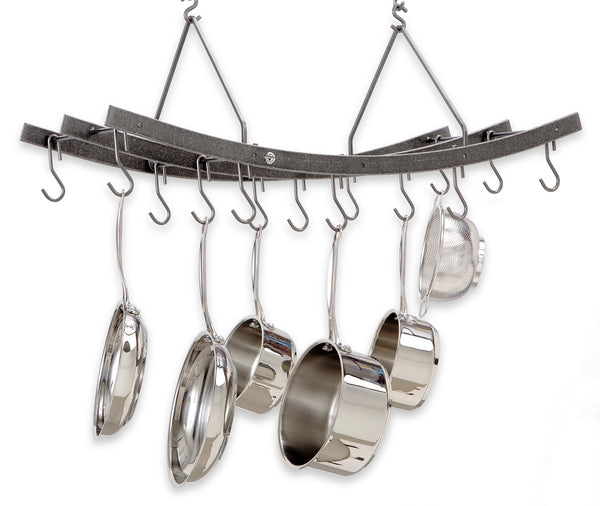 Enclume Reversible Arch Ceiling Pot Rack Hammered Steel PR37 - Your Kitchen Island