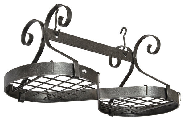 Enclume Infinity Ceiling Pot Rack Hammered Steel PR44 - Your Kitchen Island - 1