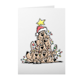 Christmas Tree Hounds Folded Cards - The Bloodhound Shop