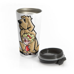 Heart of a Hound Stainless Steel Travel Mug - The Bloodhound Shop