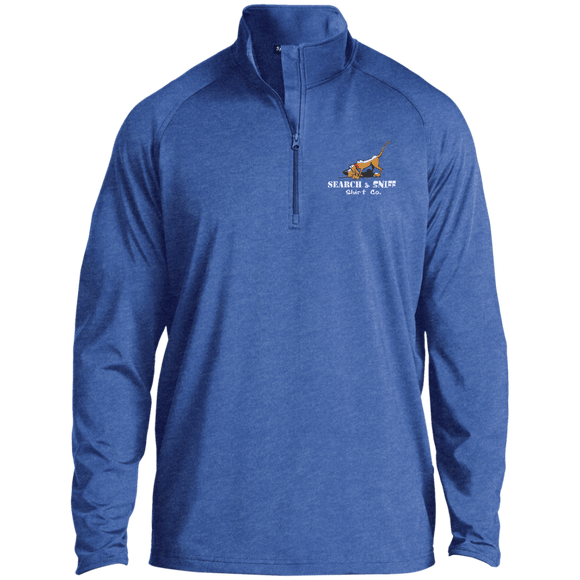 Search and Sniff Specialty Sport-Tek 1/2 Zip Raglan Performance Pullover - The Bloodhound Shop