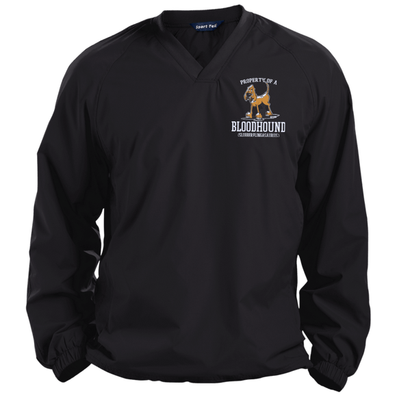 Property of a Bloodhound Specialty Sport-Tek Pullover V-Neck Windshirt - The Bloodhound Shop