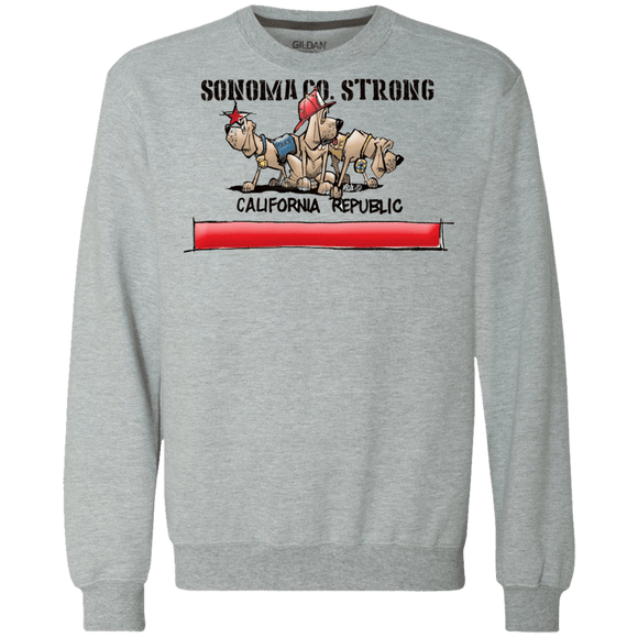 Sonoma Co. Strong Gildan Heavyweight Crewneck Sweatshirt 9 oz. - The Bloodhound Shop