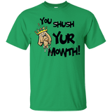 Shush Your Mouth Gildan Ultra Cotton T-Shirt - The Bloodhound Shop