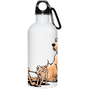 Palmers Playful Pups 20 oz. Stainless Steel Water Bottle - The Bloodhound Shop