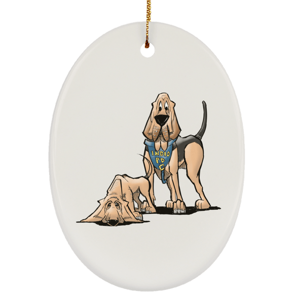 Robyn Indio PD Custom Ceramic Oval Ornament - The Bloodhound Shop