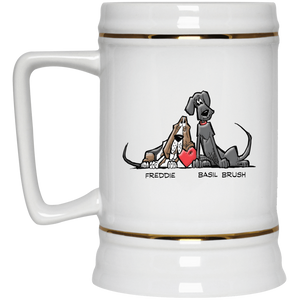 Tim's Freddie/Basil Love Beer Stein 22oz. - The Bloodhound Shop