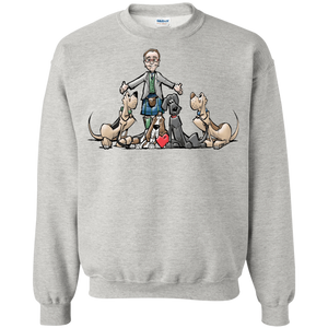 Tim's Hound Love Gildan Crewneck Pullover Sweatshirt  8 oz. - The Bloodhound Shop