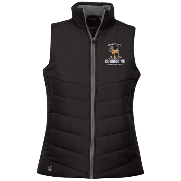 Property of a Bloodhound Specialty Holloway Ladies' Quilted Vest - The Bloodhound Shop