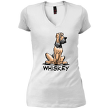 Whiskey Collection District Junior's Vintage Wash V-Neck T-Shirt - The Bloodhound Shop