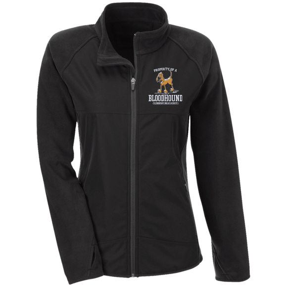 Property of a Bloodhound Specialty Team 365 Ladies' Microfleece with Front Polyester Overlay - The Bloodhound Shop