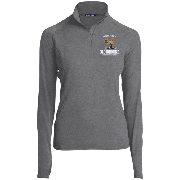 Property of a Bloodhound Specialty Sport-Tek Women's 1/2 Zip Performance Pullover - The Bloodhound Shop