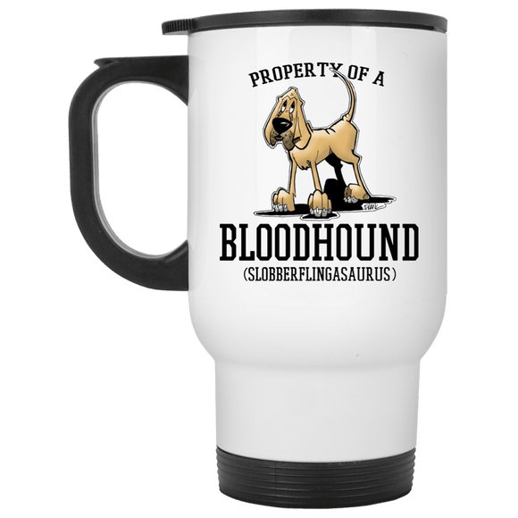 Property of a Hound White Travel Mug - The Bloodhound Shop