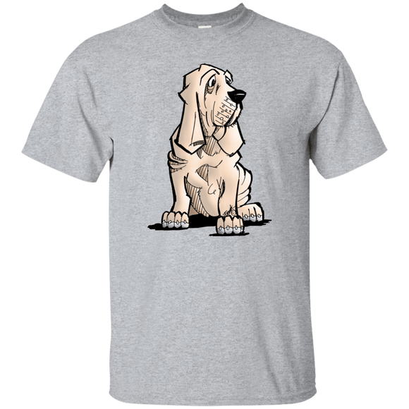 SALE Bloodhound Puppy Gildan Ultra Cotton T-Shirt - The Bloodhound Shop