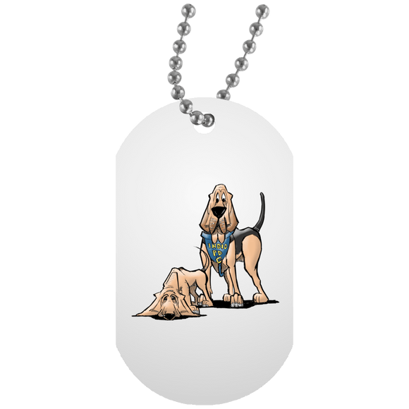 Robyn Indio PD Custom White Dog Tag - The Bloodhound Shop