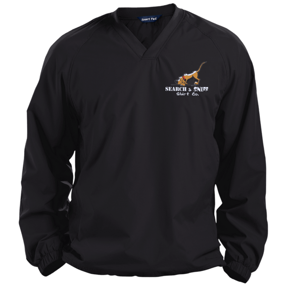 Search and Sniff Specialty Sport-Tek Pullover V-Neck Windshirt - The Bloodhound Shop
